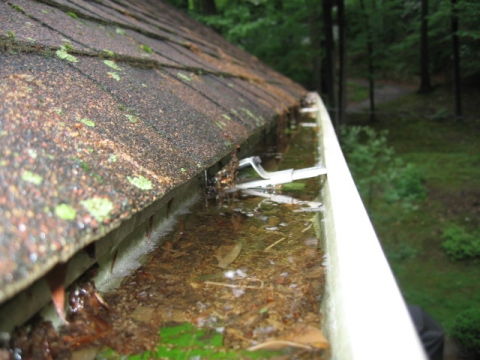 Cleaning the gutters the most important to-do list project