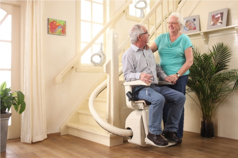 Keep Your Seniors Healthy by Installing a Stair Lift in Their Home Picture